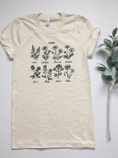 Wildflower Shirt. Plant Lady Shirt. Gardening Shirt. Garden Tshirt. Crazy  Plant Lady. Adopt a Plant. Womens Tees 495fc8350