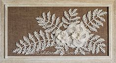 poppy flower and fern leaf crochet pattern / tutorial with step-by-step pictures, written instructions and charts.
