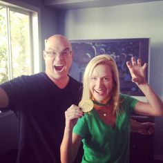 Derek Haas and Angela Kinsey join in a sic 'em! Love our #Baylor Proud alumni!