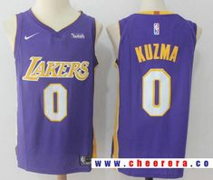 b94aaa91c69 Men's Los Angeles Lakers #0 Kyle Kuzma New Purple 2017-2018 Nike Swingman  Wish
