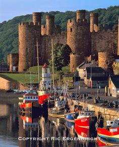 Conwy Castle is a medieval fortification in Conwy, Gwynedd, on the north coast of Wales. It was built by Edward I, during his conquest of Wales, between 1283 and 1289. - Ric Ergenbright Photography