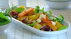 The secret to this roasted root vegetable recipe is the addition of the honey – a little drizzle brings out all the delicious caramelized flavours of the Roasted Root Vegetables, Fruits And Vegetables, Vegetable Salad, Vegetable Recipes, South African Recipes, Ethnic Recipes, Cooking Classes, Salads, Honey