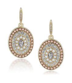Carolee Casablanca Cachet Pave Pearl Drop Earrings   Dillards.com
