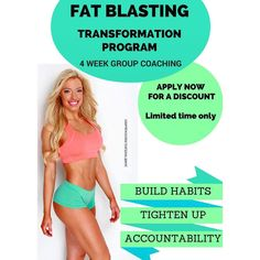 Are you unable to lose weight?  Sick and tired of struggling with your health?  Don't have the energy or motivation to be consistent enough to get results?  Do you want to get fit toned and healthy?  I am offering a one month group coaching program at a MASSIVELY discounted price!  It takes 21 days to build a new habit. Together let's develop the habits required to get fit and healthy FOR LIFE!  This program will include:  Diet Program: Exactly what to eat and what not to eat Training…
