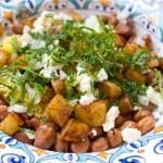 Fava Beans, Potatoes and Saffron Rice with Feta Cheese and Fresh Herbs - Recipe