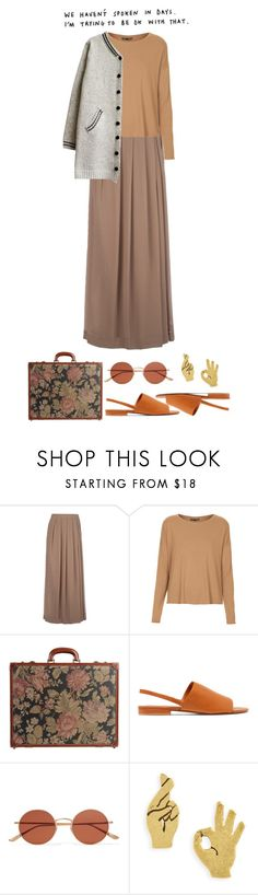 """""""#123 i miss you"""" by ghvstly ❤ liked on Polyvore featuring So Nice, Topshop, I Santi, Vince, Oliver Peoples, Madewell, vintage and airportstyle"""