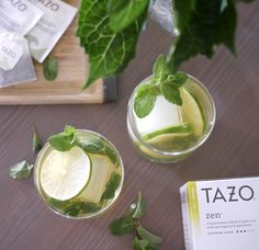 Getting our green on today with this moTEAto: mix 1oz. of white rum with honey, muddled mint and Zen tea. Garnish with a lime, serve over ice and enjoy!