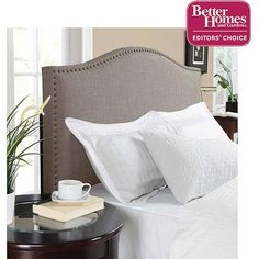 Better Homes and Gardens Grayson Linen Headboard with Nailheads, Multiple Colors, Multiple Sizes