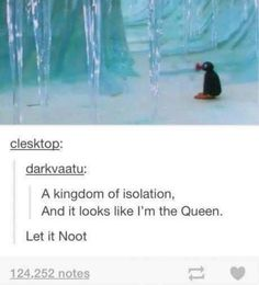 I loved pingu!! It was the coolest show