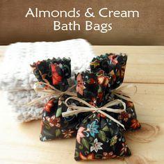 DIY Almonds & Cream Bath Bags