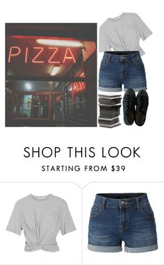"""Untitled #81"" by starchildx ❤ liked on Polyvore featuring T By Alexander Wang, LE3NO and Converse"