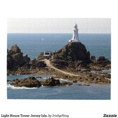 Light House Tower Jersey Isle. Jigsaw Puzzle