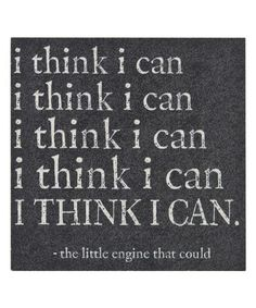 Sometimes I really do say these words to myself. :: 'I Think I Can' Magnet