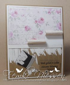 """made by femke niessen. a clean and simple new home card. I used MFT's abstract art stampset and the paint brush dienamics. the sentiment means """"good luck in your new house"""" in dutch."""
