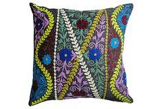 Thrive 20x20 Embroidered Pillow, Multi on OneKingsLane.com