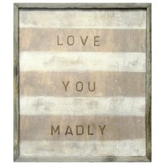 Sugarboo Designs Art Print Love You Madly from @Sarah Nasafi Grayce #laylagrayce #new #art #sign