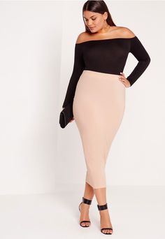this seriously smokin' jersey bodycon midi skirt is a must have this season. in on point pink with figure flattering fit this one is the perfect throw on and go! team this beaut with our fave creepers and faux suede jacket for luxe daytime ...