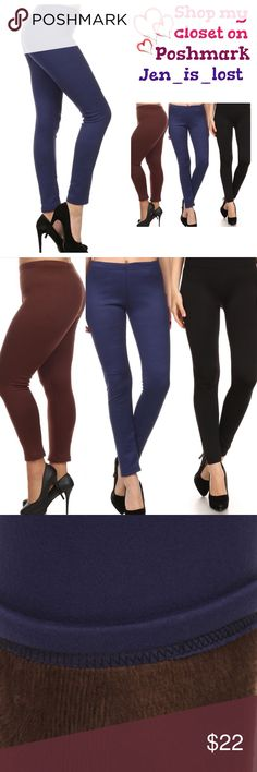 """🔷30% OFF BUNDLES🔷 Faux Fur Leggings Faux Fur Knit Leggings Black, Brown, or Navy OSFM 0-10 Solid knit legging with elasticized waistband and faux fur. Inseam is 28"""".  These are OSFM I recommend size 0 to 10 only.  Colors available are Navy, Black and Brown. Content: 85%POLYESTER 15%SPANDEX. 🚫No Trades🚫 ✅Reasonable Offers Are Considered✅ Use the blue offer button. Pants Leggings"""