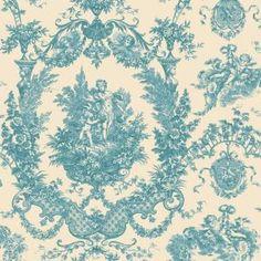 The Wallpaper Company 56 sq.ft. Mint Cherub Damask Wallpaper-WC1280612 at The Home Depot