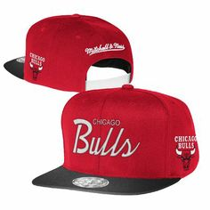 7eb49e8960c Chicago Bulls Mitchell and Ness NBA Two Tone Reflective Snapback Hat (Red)  Team Apparel