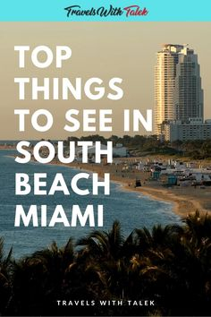 There are plenty of things to do in South Beach, but one of the best ways to see South Beach, Miami is on a self-guided walk at sunrise. After your walk, why not eat at one of the many South Beach restaurants and take in the sights at the South Beach Art Deco district.
