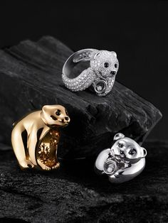 Little bear rings by Chopard. I am in love. So cute!