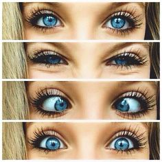 Cute makeup for a teen with blue eyes