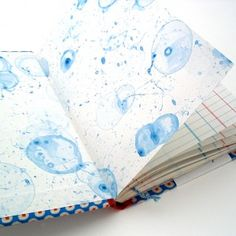Floating Ink Bombs: Decorative Paper With Bubbles http://www.ruthbleakley.com/blog/?p=334