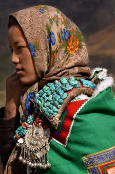 spiti girl, kibber, india | traditional culture