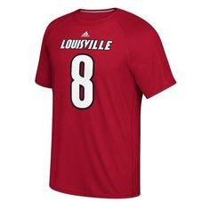 b7d21507e Adidas Men s University of Louisville Lamar Jackson  8 T-shirt (Red