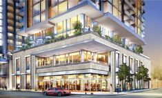 Image result for retail shops in podium of buildings