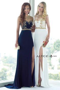 Alyce Paris Beaded High Neckline Dress #gold #stunning