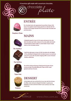 The Chocolate Menu  Fardoulis Chocolates Chocolate Plato  www.choc.com.au