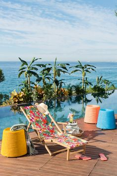 Stool Pyramide and Deck Chair Trinidad by Pfister, Summer Paradise, Outdoor Ideas, Furnishing and Decoration Ideas, Decoration, Charming Horizon, Sea View