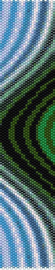 BPRA0009 Even Count Single Drop Peyote Cuff/Bracelet Pattern