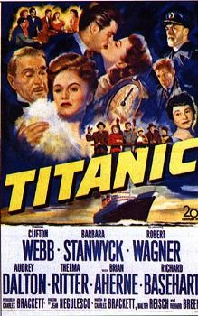 Charles Brackett,Walter ReischandRichard BreenBest Story and Screenplay1954Titanic