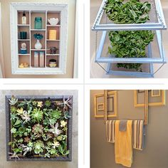 Organizers, shelves, and more creative and functional uses for old frames