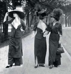 In the Spring of 1908, three women walked onto the Longchamp racecourse in Paris and jaws dropped. The elitesociety event was known for debuting the latest