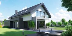 DOM.PL™ - Projekt domu CPT HomeKONCEPT-51 CE - DOM CP1-60 - gotowy koszt budowy Home Fashion, Exterior, House Design, Luxury, House Styles, Outdoor Decor, Home Decor, Houses, Design Ideas