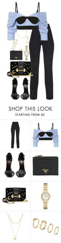 """""""Untitled #5636"""" by theeuropeancloset ❤ liked on Polyvore featuring Alexander Wang, Yves Saint Laurent, Prada, Kate Spade, Zimmermann, H&M and Gucci"""