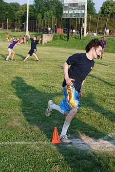 Grab a few friends and a kickball. Go to the park or a field and kick the ball back and forth for an hour. Amazing what you learn about people when they 'get together.'