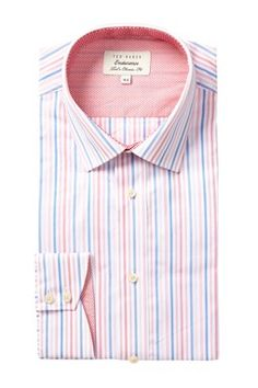 Ted Baker London Timeless Endurance Striped Dress Shirt