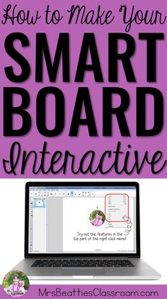 How To Make Your SMART Board Lessons Interactive There are so many ways to make your lessons engaging and interactive for your students! Let me help you get started with some tips and tricks for using SMART Notebook! Teaching Technology, Technology Integration, Educational Technology, Technology Tools, Smart Board Activities, Smart Board Lessons, Classroom Organization, Classroom Management, Classroom Ideas