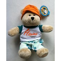 Starbucks Hawaii 2010 Destination Bearista Plush Bear Soft Toy -- Learn more by visiting the image link. (This is an affiliate link) #StuffedAnimalsPlushToys