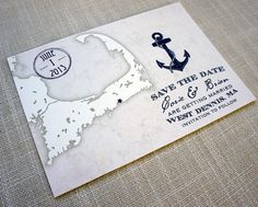 We're going for something similar for our Cape Cod Wedding Save the Dates