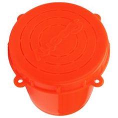 Scotty Bait Jar with Lid - Orange - 1/2 Liter