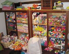 This woman has an insane amount of yarn!