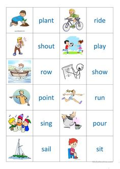 English Grammar For Kids, Learning English For Kids, English Worksheets For Kids, English Lessons For Kids, English Verbs, Kids English, English Activities, Learn English Words, English Vocabulary