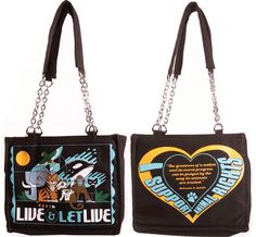 Live Let Live Tote – $46.95 Vegan Clothing, Large Tote, Cotton Canvas, Chanel, Shoulder Bag, Let It Be, Tote Bag, Live, Bags
