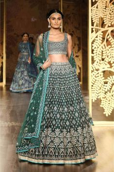 Shop from an exclusive range of luxurious wedding dresses & bridal wear by Anita Dongre. Bring home hand-embroidered wedding wear in colors inspired by nature. Buy now. Indian Wedding Outfits, Bridal Outfits, Indian Outfits, Bridal Dresses, Indian Clothes, Indian Attire, Green Lehenga, Lehenga Choli, Anarkali